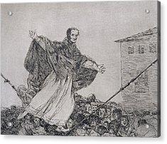 May The Cord Break Acrylic Print by Goya