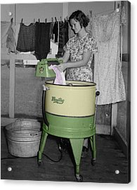Maytag Woman Acrylic Print by Andrew Fare