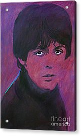 Mccartney Acrylic Print by David Lloyd Glover