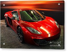 Mclaren Mph-12c Sportscar Acrylic Print by Wingsdomain Art and Photography