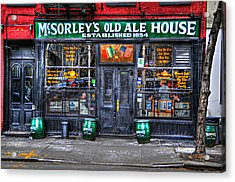 Mcsorley's  In Color Acrylic Print by Randy Aveille