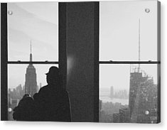 Me And Nyc Acrylic Print by J Montrice