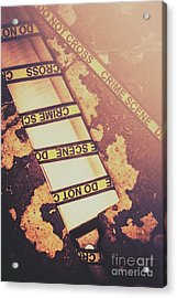 Meat Cleaver At Crime Spot Acrylic Print by Jorgo Photography - Wall Art Gallery