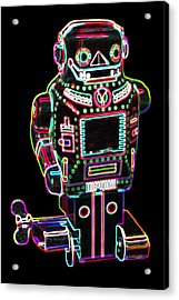 Mechanical Mighty Sparking Robot Acrylic Print by DB Artist
