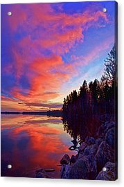 Meddybemps Reflections 9 Acrylic Print by Bill Caldwell -        ABeautifulSky Photography