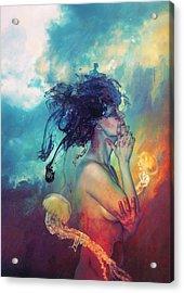 Medea Acrylic Print by Mario Sanchez Nevado