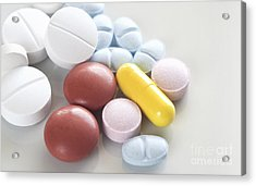 Medicinal Pills Acrylic Print by Blink Images