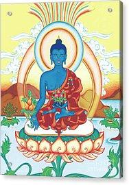 Medicine Buddha Acrylic Print by Carmen Mensink