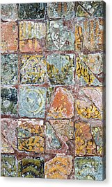 Medieval Floor Tiles Pattern Acrylic Print by Tim Gainey