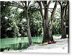 Medina River Landscape View Acrylic Print by Ella Kaye Dickey