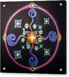 Meditation On Releasing  Acrylic Print by Janelle Schneider