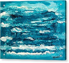 Mediterranean Blue Green Acrylic Print by Marsha Heiken