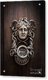 Medusa Head Door Knocker Acrylic Print by Edward Fielding