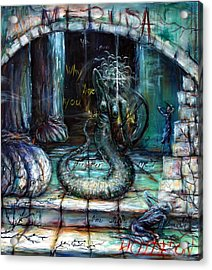 Medusa Acrylic Print by Heather Calderon
