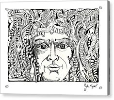 Medusa Acrylic Print by John Keaton