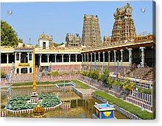 Meenakshi Sundareshwar Temple, Madurai Acrylic Print by Copyright@JGovindaraj
