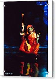 Meerabai Acrylic Print by Gautam Chatterjee