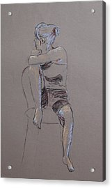 Megan Seated Acrylic Print by Marina Garrison