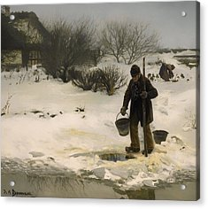 Melting Snow Acrylic Print by Mountain Dreams
