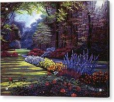 Memories Of Beacon Hill Park Acrylic Print by David Lloyd Glover