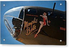 Memphis Belle Nose Art Acrylic Print by Murray Bloom