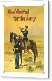 Men Wanted For The Army Acrylic Print by War Is Hell Store