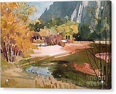 Merced River Encounter Acrylic Print by Donald Maier