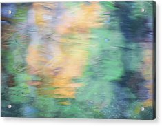 Merced River Reflections 7 Acrylic Print by Larry Marshall