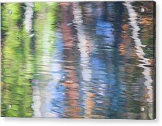 Merced River Reflections 8 Acrylic Print by Larry Marshall