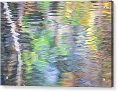 Merced River Reflections 9 Acrylic Print by Larry Marshall
