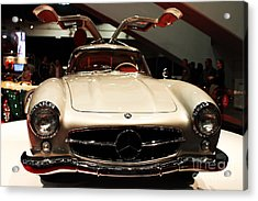 Mercedes 300sl Gullwing . Front View Acrylic Print by Wingsdomain Art and Photography