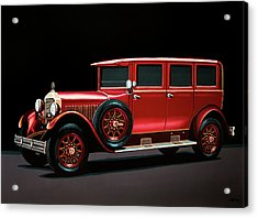 Mercedes-benz Typ 300 Pullman Limousine 1926 Painting Acrylic Print by Paul Meijering