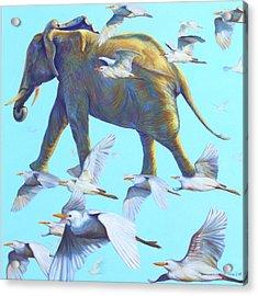Mercury Acrylic Print by Sarah Soward