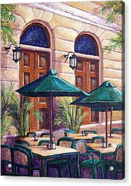 Merida Cafe Acrylic Print by Candy Mayer