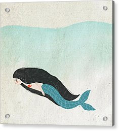 Mermaid Acrylic Print by Carolina Parada