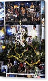 Merry Christmas Michael Jackson Acrylic Print by John Rizzuto