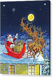 Merry Christmas To All Acrylic Print by Richard De Wolfe