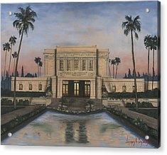 Mesa Temple Acrylic Print by Jeff Brimley