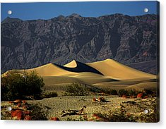 Mesquite Flat Dunes - Death Valley California Acrylic Print by Christine Till