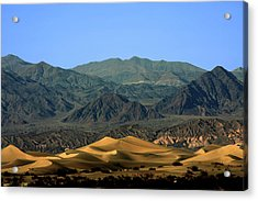 Mesquite Flat Sand Dunes - Death Valley National Park Ca Usa Acrylic Print by Christine Till