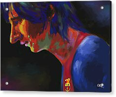 Messi Acrylic Print by Carvil