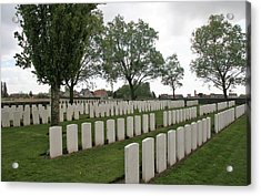 Acrylic Print featuring the photograph Messines Ridge British Cemetery by Travel Pics