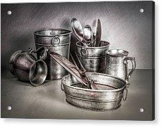 Metalware Still Life Acrylic Print by Tom Mc Nemar