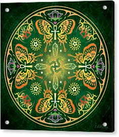 Metamorphosis Mandala Acrylic Print by Cristina McAllister