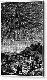 Meteor Shower, 1833 Acrylic Print by Granger