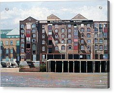 Metropolitan Wharf Acrylic Print by Peter Wilson