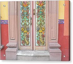 Mexican Doorway 3 Acrylic Print by Francine Gourguechon