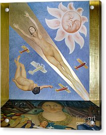 Mexican Mural Painting Acrylic Print by Granger