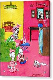 Mi Familia Acrylic Print by Heather Calderon