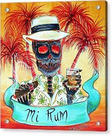 Mi Rum Acrylic Print by Heather Calderon